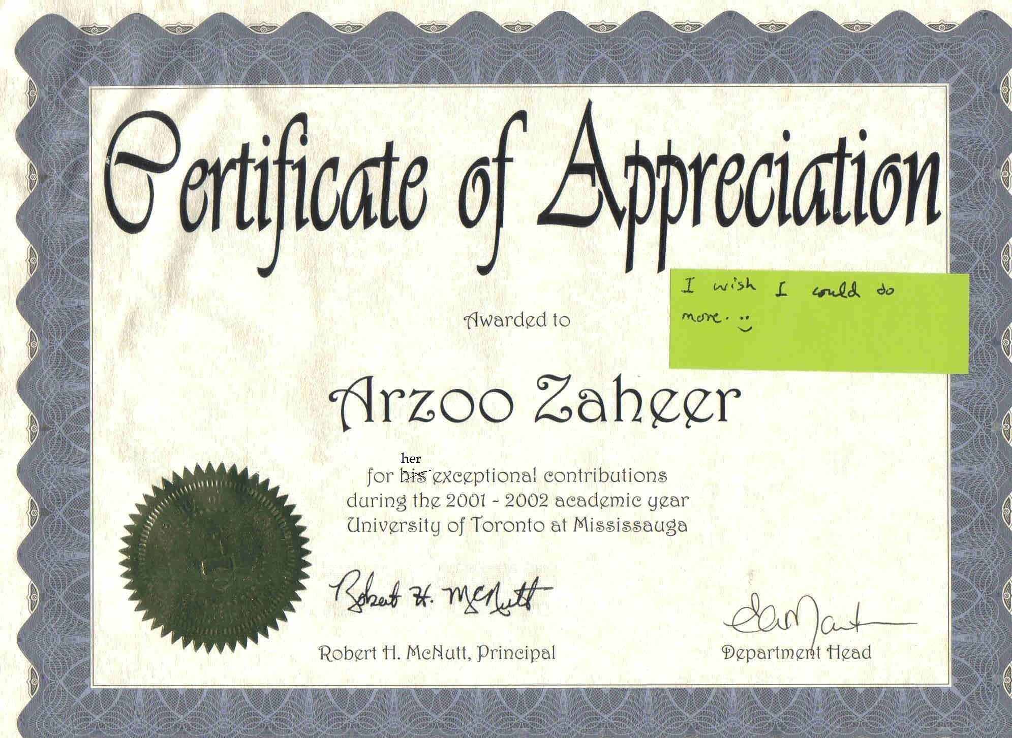 Certificate of Appreciation-2002