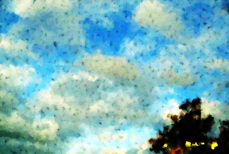 cubism clouds picnik